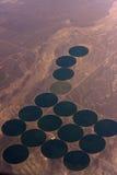 Agriculture de pivot Photos libres de droits