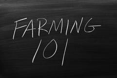 Agriculture de 101 sur un tableau noir Photographie stock libre de droits