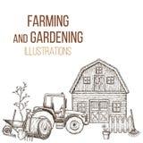 Agriculture des instruments agricoles illustration libre de droits