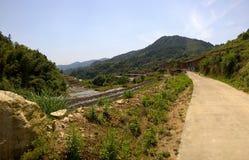 Agriculture du village en Chine du sud Photographie stock