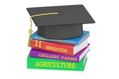 Agriculture Education concept, 3D rendering. On white background Royalty Free Stock Images