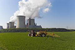Agriculture and electricity generation Stock Images
