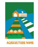Agriculture emblem for the eco farm Stock Photos