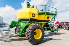 Agriculture equipment on exhibition. Tyumen Royalty Free Stock Photos