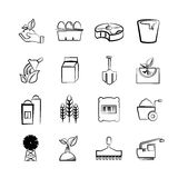 Agriculture and farm icons Royalty Free Stock Image