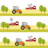 Agriculture and Farming. Agribusiness. Rural landscape Royalty Free Stock Photo