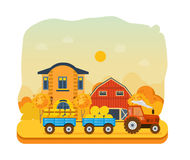 Agriculture and farming. Agribusiness. Rural landscape. Farm and farmland. Royalty Free Stock Photography