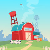 Agriculture Farming, Barn Building Field Farmland Countryside Landscape Royalty Free Stock Images