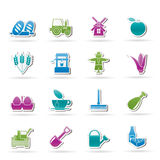 Agriculture and farming icons Stock Images