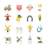 Agriculture and farming icons Stock Photography