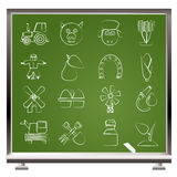 Agriculture and farming icons. Vector icon set Royalty Free Stock Photography