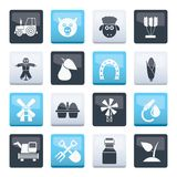 Agriculture and farming icons over color background. Vector icon set vector illustration