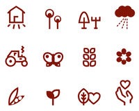 Agriculture & farming icons set Stock Photography