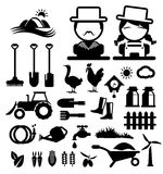 Agriculture and farming icons. Agriculture and farming  icons set Stock Images