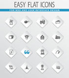 Agriculture and farming icons set. Agriculture and farming easy flat web icons for user interface design Stock Photo