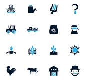 Agriculture and farming icons set. Agriculture and farming icon set for web sites and user interface Stock Photography