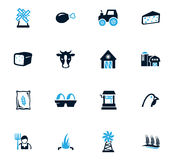 Agriculture and farming icons set. Agriculture and farming icon set for web sites and user interface Stock Images
