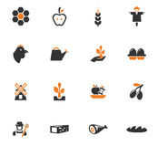 Agriculture and farming icons set. Agriculture and farming icon set for web sites and user interface Stock Photo