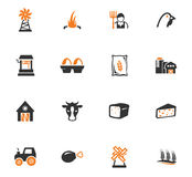 Agriculture and farming icons set. Agriculture and farming icon set for web sites and user interface Royalty Free Stock Image