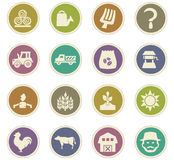 Agriculture and farming icons set. Agriculture and farming icon set for web sites and user interface Royalty Free Stock Images