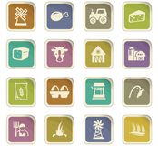 Agriculture and farming icons set. Agriculture and farming icon set for web sites and user interface Stock Photos
