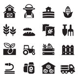 Agriculture and Farming icons set Stock Image