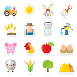 Agriculture and farming icons. Vector icon set Royalty Free Stock Image