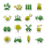 Agriculture and farming icons. Vector icon set Royalty Free Stock Photos
