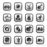 Agriculture and farming icons. Vector icon set Stock Images
