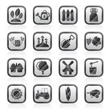 Agriculture and farming icons. Vector icon set Stock Photography