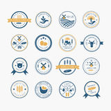 Agriculture and farming logos. royalty free illustration