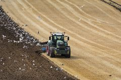 Agriculture - Farming - Plowing a field Stock Photos