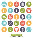 Agriculture and Farming Round Color Icon Set Royalty Free Stock Images