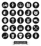 Agriculture and Farming Round Icon Set Royalty Free Stock Photos