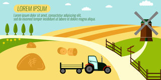 Agriculture Farming and Rural landscape background. Stock Photography