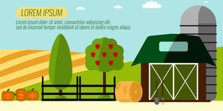 Agriculture Farming and Rural landscape background. Elements for Stock Image