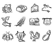 Agriculture and farming Royalty Free Stock Images