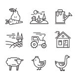 Agriculture and Farming. Vector illustration of Agriculture and Farming icons Royalty Free Stock Photos