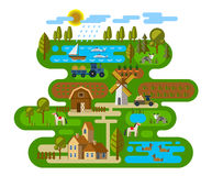 Agriculture and Farming. Vector illustration of Agriculture and Farming icons Royalty Free Stock Photography