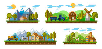 Agriculture and Farming. Vector illustration of Agriculture and Farming icons Royalty Free Stock Images