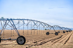 Agriculture Field Irrigation System Stock Photography