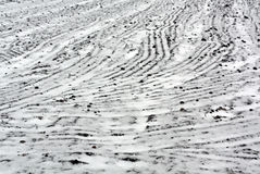 Agriculture field in snow Royalty Free Stock Photos