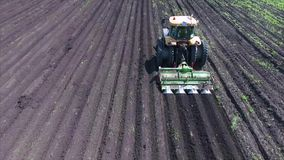 Agriculture field and tractor stock footage