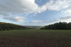 Agriculture and fields in Germany. The Agriculture and fields in Germany Royalty Free Stock Photos