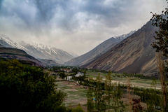 Agriculture fields near Gahkuch, Gilgit Pakistan Royalty Free Stock Images