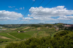 Agriculture fields in Torres Vedras Portugal. Torres Vedras Portugal. 18 May 2017.View of the agriculture fields inTorres Vedras.Torres Vedras, Portugal Royalty Free Stock Images