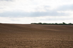 Agriculture fields under rain clouds Stock Images