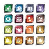 Agriculture and Fisheries Icons Royalty Free Stock Photography