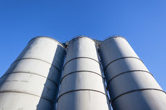 Agriculture Food Grain Silos Blue Royalty Free Stock Image