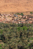 The agriculture at foothill in Tinghir city, Morocco Stock Images